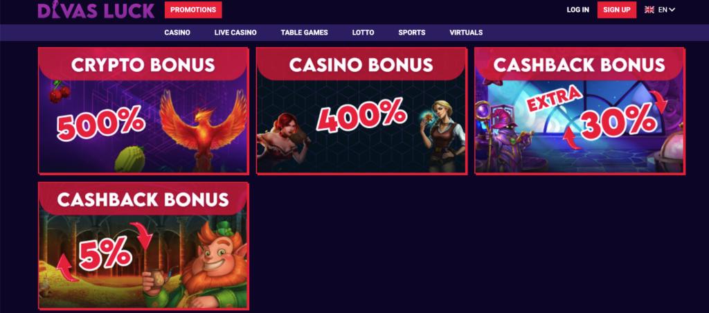 divas luck bonuses